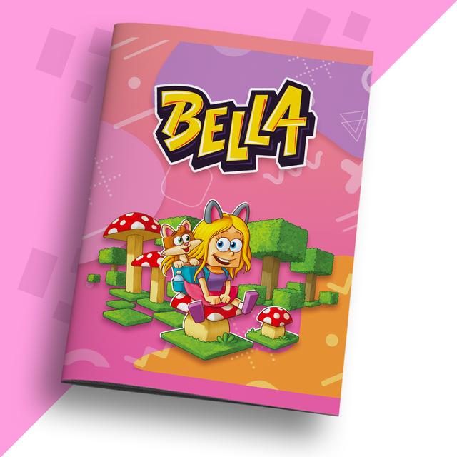 Bella - Zeszyt w kratkę - idealny do prezent do robienia notatek. #zostańwdomu
