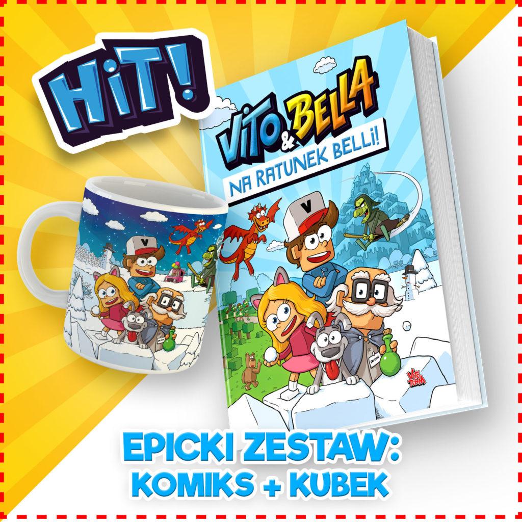 Epicki Zestaw Komiks + Kubek - Vito & Bella - zajączek, Wielkanoc, prezent.