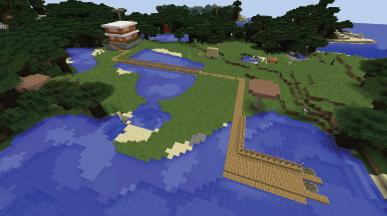 pomost przy domu Vito i Bella Minecraft BUDUJEMY W MINECRAFCIE PROJEKT DOMU budowa prostej wakacyjnej siedziby