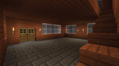 wnętrze domu z oświetleniem Vito i Bella Minecraft BUDUJEMY W MINECRAFCIE PROJEKT DOMU budowa prostej wakacyjnej siedziby